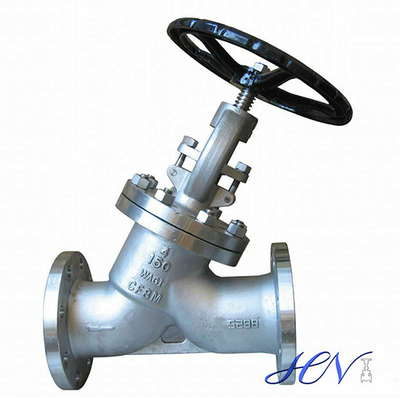Y Type Stainless Steel Flanged Globe Valve