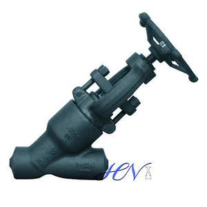 Y Type Forged Steel Manual Butt Weld Globe Valve
