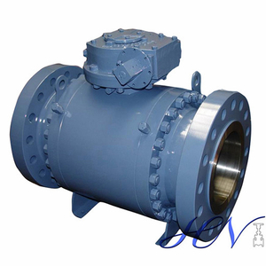 API 6D Forged Steel Side Entry Trunnion Ball Valve Double Block Bleed