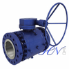 Worm Gear Side Entry Forged Trunnion Mounted Ball Valve