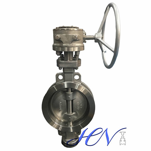 Manual Stainless Steel Wafer Type Steam Tricentric Butterfly Valve