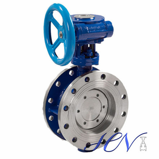 Manual Double Flanged Industrial Double Eccentric Butterfly Valve