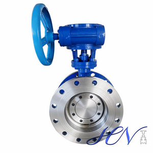 Flange Type Flow Control Manual Double Eccentric Butterfly Valve