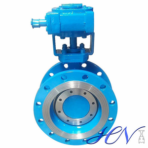 Flow Regulating Double Flanged Industrial Double Offset Butterfly Valve