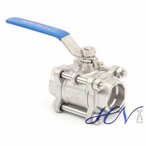 3-PC Stainless Steel Socket Welding Manual Floating Ball Valve