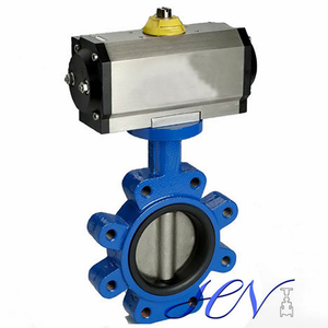 Pneumatic Ductile Iron Fully Lug Centric Butterfly Valve