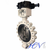 Manual Carbon Steel Double Offset Industrial Butterfly Valve
