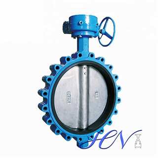 EPDM Seated Fully Lugged Cast Iron Gear Operated Centric Butterfly Valve