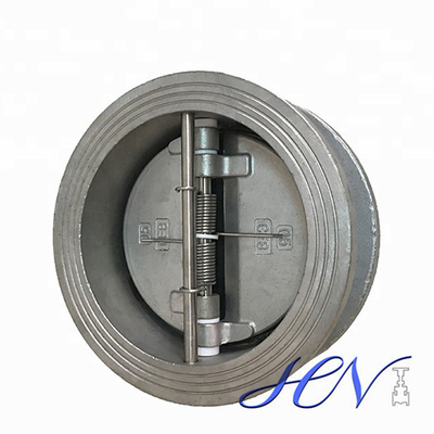 Spring Loaded Stainless Steel Wafer Type Industrial Dual Plate Check Valve