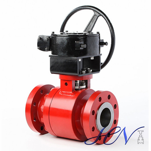 Fire Safe Forged Side Entry Trunnion Ball Valve Double Block Bleed