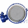 Double Flange Gear Operated Industrial Triple Eccentric Butterfly Valve