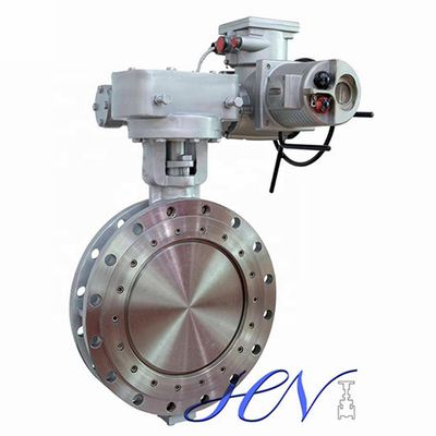 Motorized Flange Type Flow Control Double Eccentric Butterfly Valve