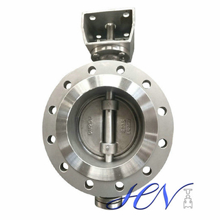 Duplex Stainless Steel Double Flange Industrial Triple Offset Butterfly Valve
