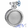 Stainless Steel Flange Type Metal Seated Triple Eccentric Butterfly Valve