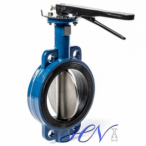Wafer Type Wrench Operated Cast Iron Centric Butterfly Valve