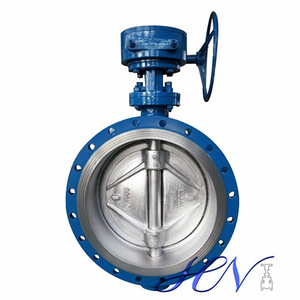 Zero Leakage Metal Seated Flanged Gear Operated Double Offset Butterfly Valve