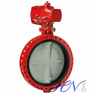 API Double Flanged Cast Iron Gear Operated Centric Butterfly Valve