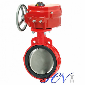 Resilient Seated Wafer Cast Iron Pneumatic Centric Butterfly Valve