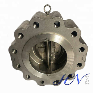 Stainless Steel Gas Line Spring Loaded Dual Plate Lug Type Check Valve