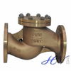 Marine Bronze Flanged Drain Piston Check Valve