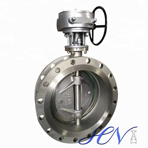 Air Pump Industrial Stainless Steel Flanged Double Eccentric Butterfly Valve