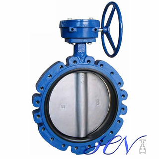 Carbon Steel Soft Seated Gear Operated Centric Butterfly Valve