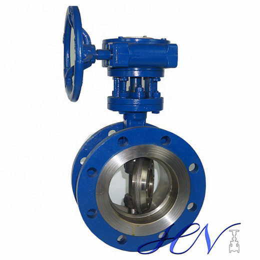 Flange Gear Operated Industrial Metal Seated Tricentric Butterfly Valve