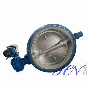 Motorized Industrial Flanged Type Double Eccentric Butterfly Valve